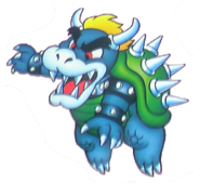 Bowser en super mario bros.