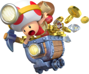 Toad Minecart Artwork - Captain Toad Treasure Tracker