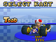 4-Wheel Cradle - Kart Select (Toad) - Mario Kart DS