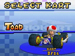 4-Wheel Cradle - Kart Select (Toad) - Mario Kart DS