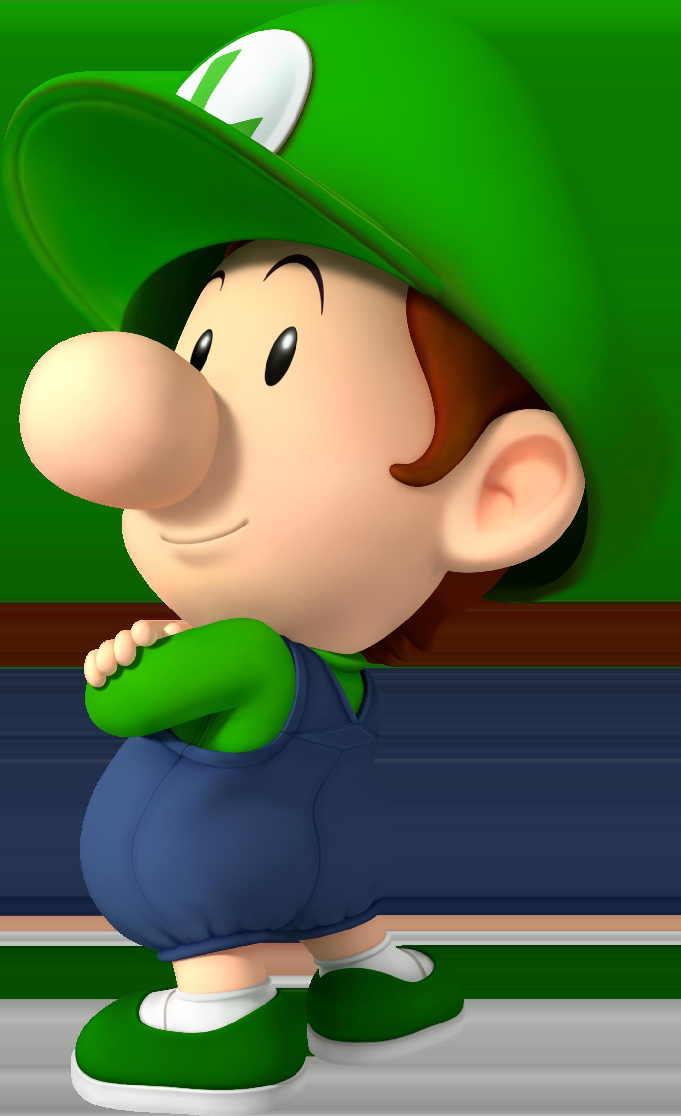 Baby Luigi Luigis Artwork In Mario Kart Wii