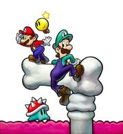 Mario and luigi 3 ds artwork