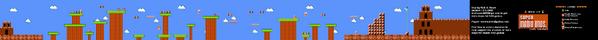 SMB World 1-3 NES level map