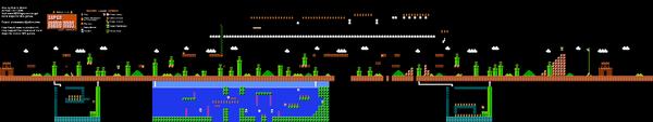 SMB World 6-2 NES level map