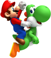 Mario et Yoshi - NSMBWii