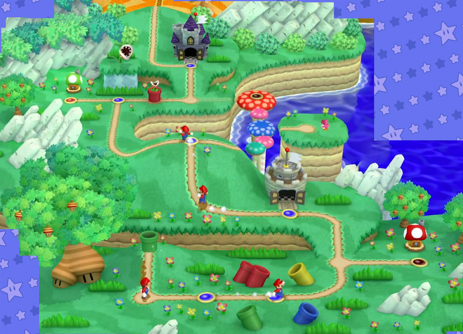 Acorn plains mariowiki fandom powered by wikia acornplainsmap the map of acorn plains located mushroom kingdom inhabitants piranha plants first game new super mario bros gumiabroncs Gallery