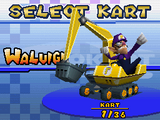 Gold Mantis - Kart Selection (Waluigi) - Mario Kart DS