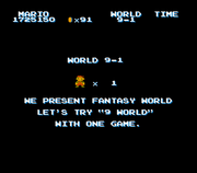 SMB The Lost Levels - World 9