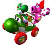 Yoshi y Birdo MKDD