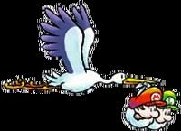Bébé Mario, Bébé Luigi et la Cigogne - SMW2