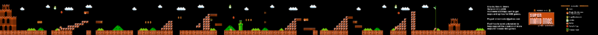 SMB World 6-1 NES level map