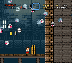 SMW Screenshot Donut-Spukhaus