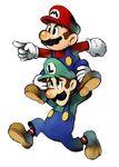 Mario y Luigi preparando el salto tornado