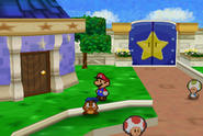 Outside Merlon's House (Paper Mario)