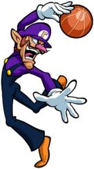 Waluigi Artwork - Mario S Basketball