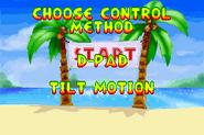 Options Menu - Diddy Kong Pilot (2001)