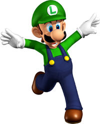 SM64DS Artwork Luigi