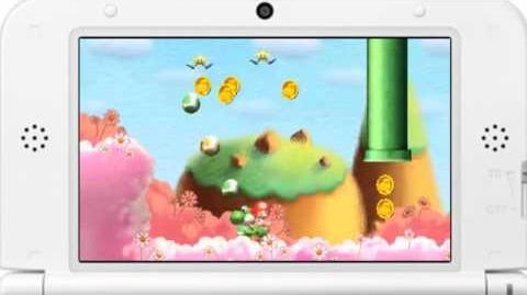 Yoshi's New Island World 1-1 Little Eggs, Big Eggs Gameplay