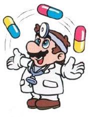 Dr. Mario juggling Megavitamins