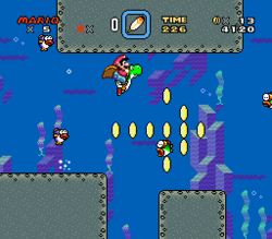 SMW Screenshot Donut-Rätsel 1