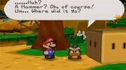 Goomabuelo junto a Mario