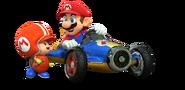 Mario and Toad Mechanic Artwork - Mario Kart 8