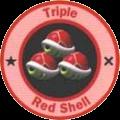 Triple carapace rouge
