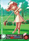 Carte amiibo Peach d'or rose golf