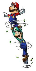 Mario & Luigi Spin Jump