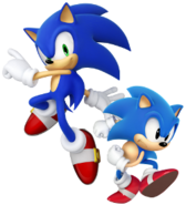 Sonic modern and classic