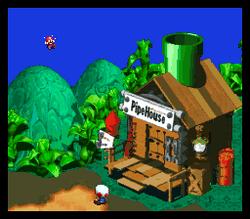 Mario's Pad - Outside - Super Mario RPG