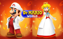 DrMWMario and peach on fire