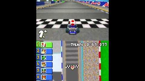 Mario Kart DS - Mushroom Cup Circuito en 8 (Figure-8 Circuit)