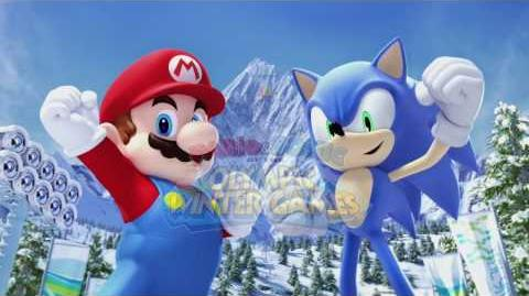 Mario and Sonic at the Olympic Winter Games (GamesCom 2009 Trailer)