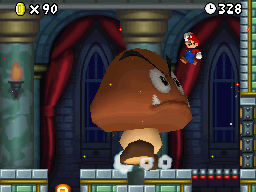 Mega Goomba - About to be Pounced on - New Super Mario Bros