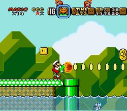SMW Screenshot Yoshis Eiland 4