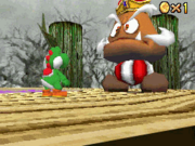SM64DS Screenshot Gumbas Schlacht