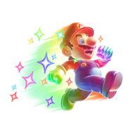NSMBW Artwork Regenbogen-Mario