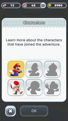 Super Mario Run - Personnages jouables