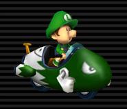 Baby Luigi en Moto Bala