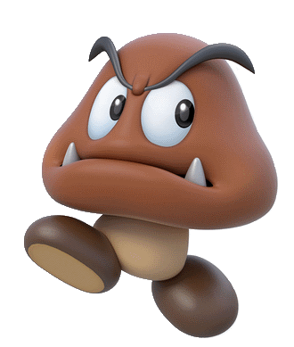 c422bf5ed86 Artwork of a Goomba from Super Mario 3D World
