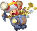 Captain Toad Minecart Artwork