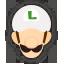 Icône Luigi blanc Ultimate