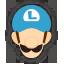 Icône Luigi bleu Ultimate