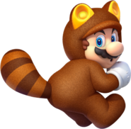 609px-Tanooki Mario Artwork - Super Mario 3D World