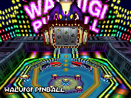 Waluigi Pinball - Course Overview - Mario Kart DS