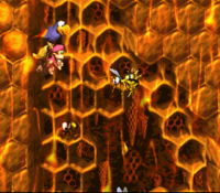 DKC2 Screenshot Papageien-Absturz