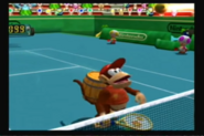 Mario Power Tennis GCN Mushroom Cup Diddy Kong-screenshot