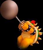 Bowser con una valanza en la saga Mario & Sonic