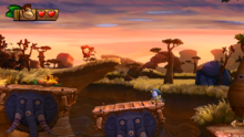 DKCTF Screenshot 3-1 Präriepolka (Nähe 1. Puzzelteil)